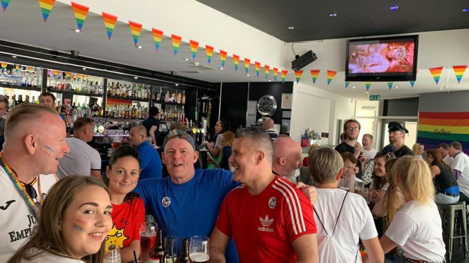 Partick Thistle Pride Proud jags at Mardi Gla Gallery Bar