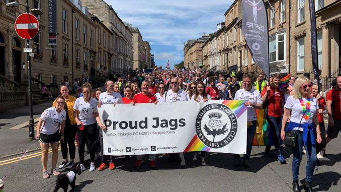 Proud Jags at Pride Mardi Gla